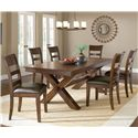 Hillsdale Park Avenue Dining Side Chairs w/ Upholstered Seats - 4692-802 - Shown in Room Setting with Trestle Table