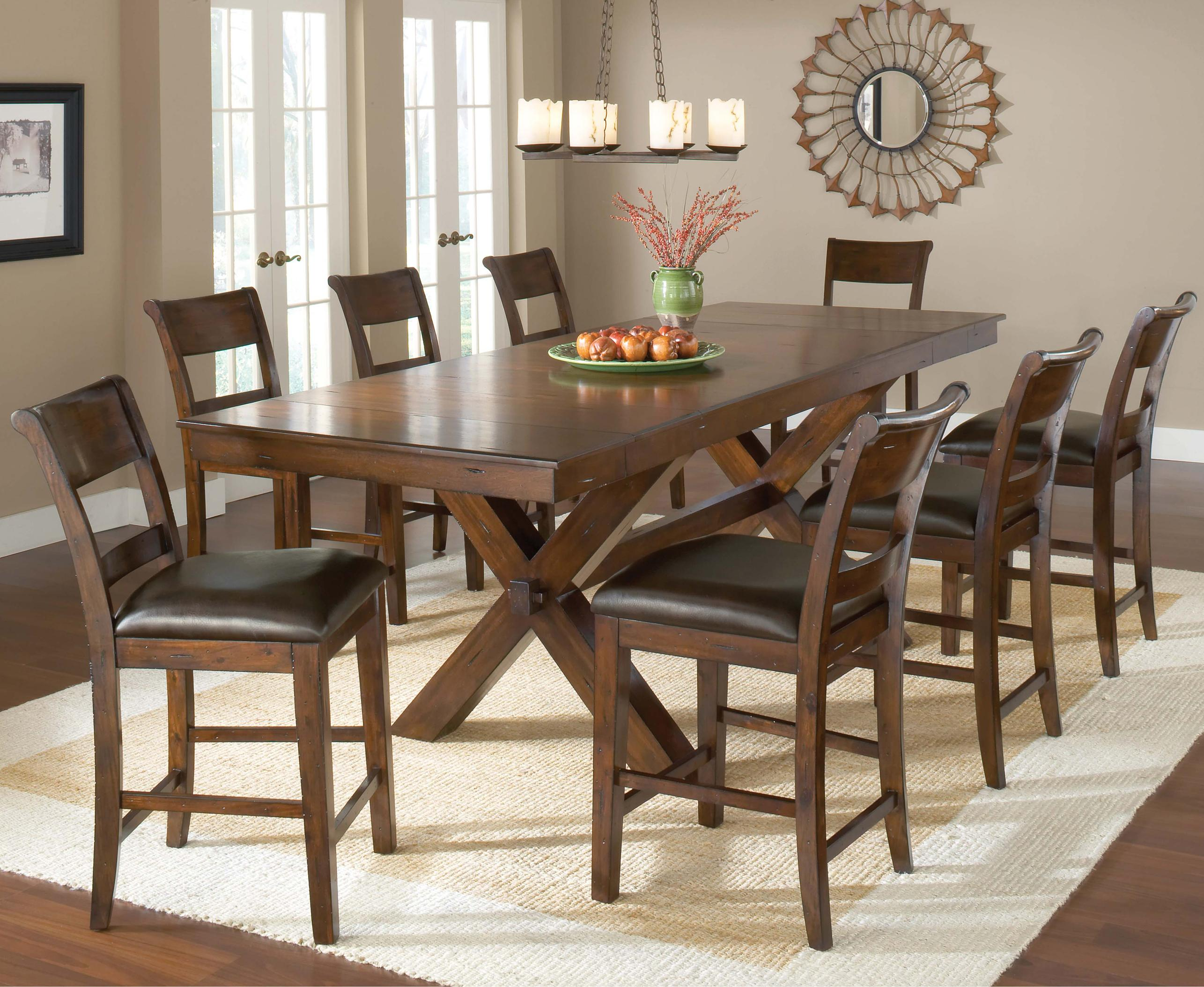 Hillsdale Park Avenue Counter Height Trestle Table Prime Brothers Furniture Pub Tables