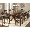 Hillsdale Park Avenue Counter Height Trestle Table - Shown with Stools