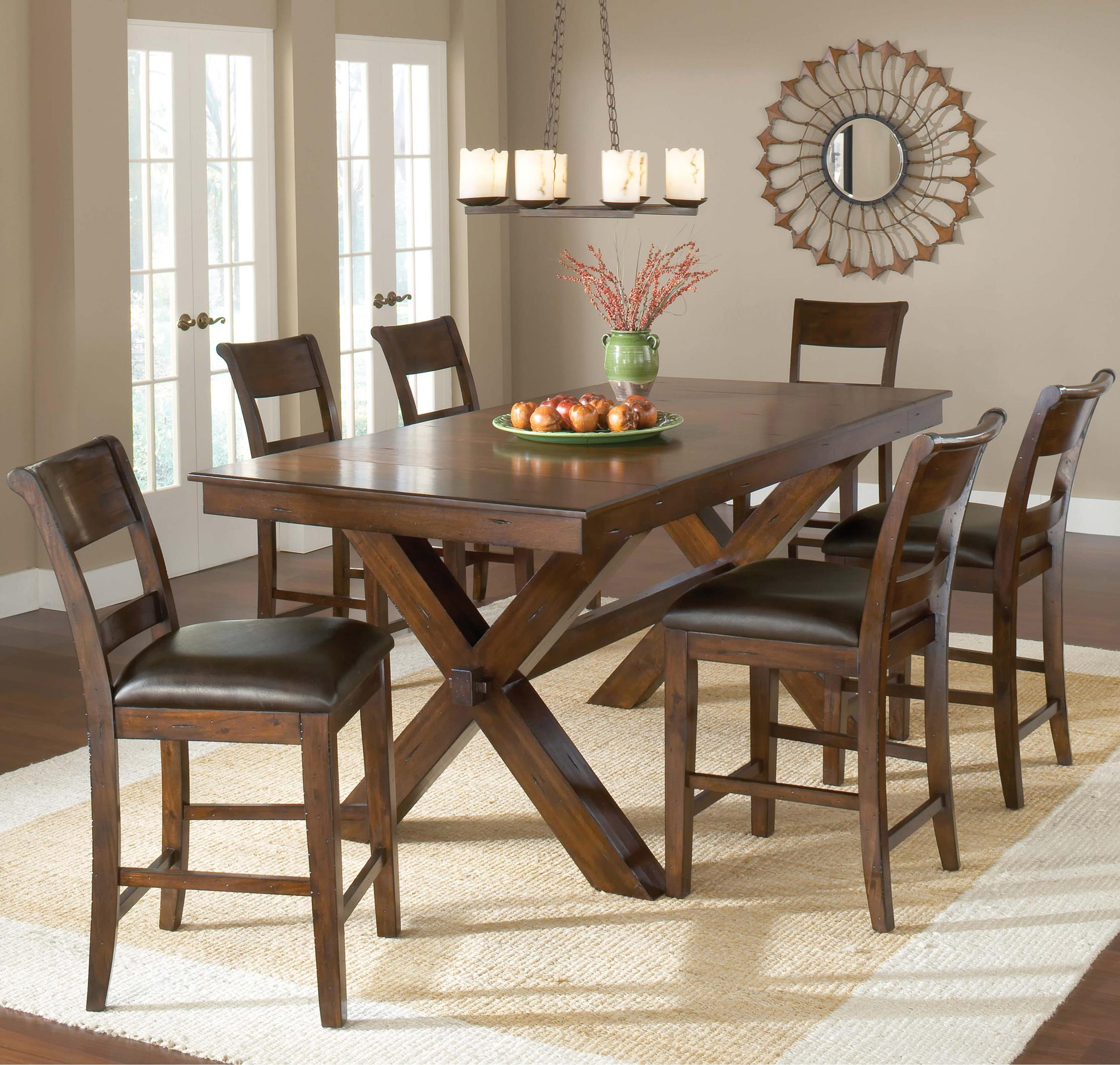Hillsdale Park Avenue 7 Piece Pub Table - Item Number: 4692CTBC7