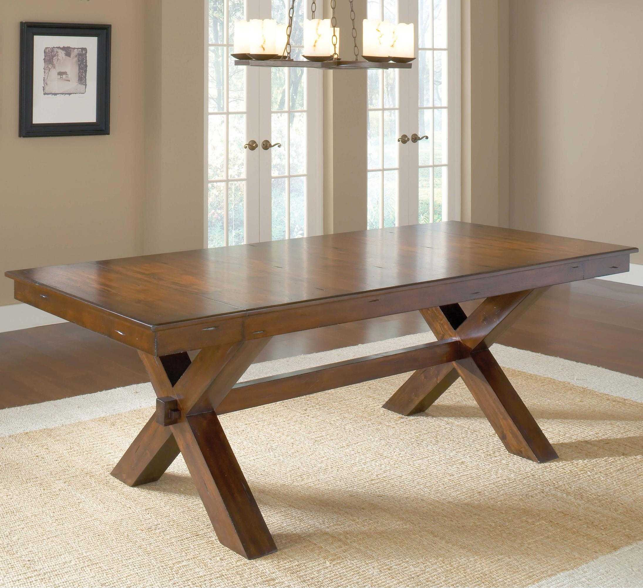 Trestle dining table w 2 leaves Trestle dining table