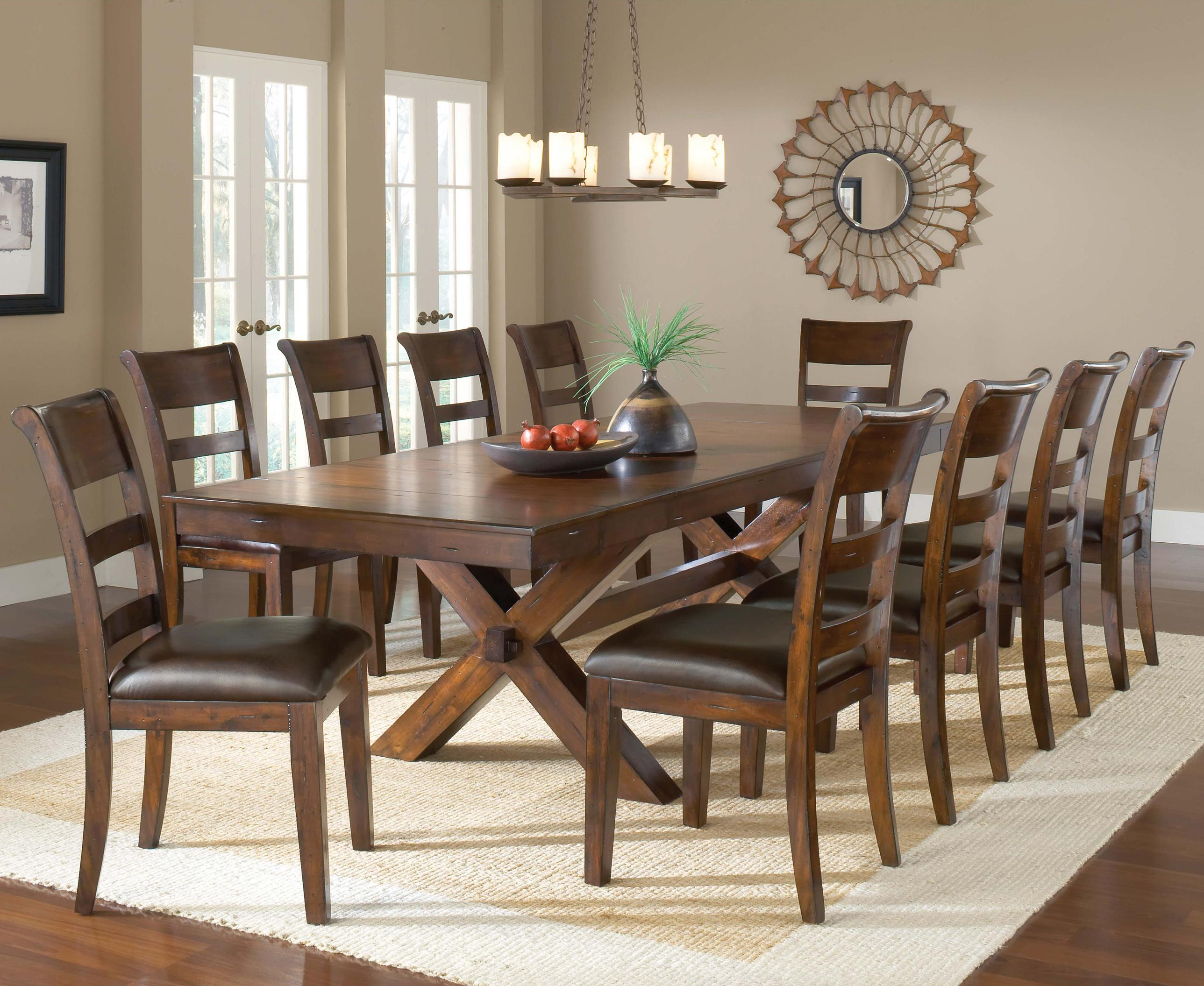 trestle dining room tables   Park Avenue Trestle Dining Table w/ 2 Leaves by Hillsdale ...