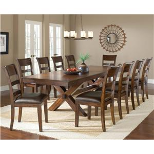 Morris Home Furnishings Park Avenue 11 Piece Dining Set