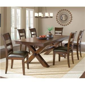 Morris Home Furnishings Park Avenue 7 Piece Dining Set
