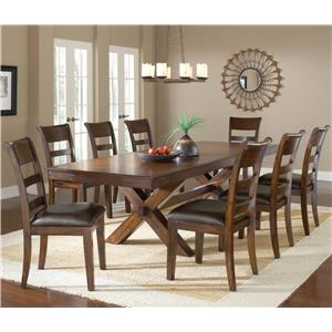 Morris Home Furnishings Park Avenue 9 Piece Dining Set