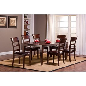 Morris Home Furnishings Park Avenue Seven Piece Dining Set