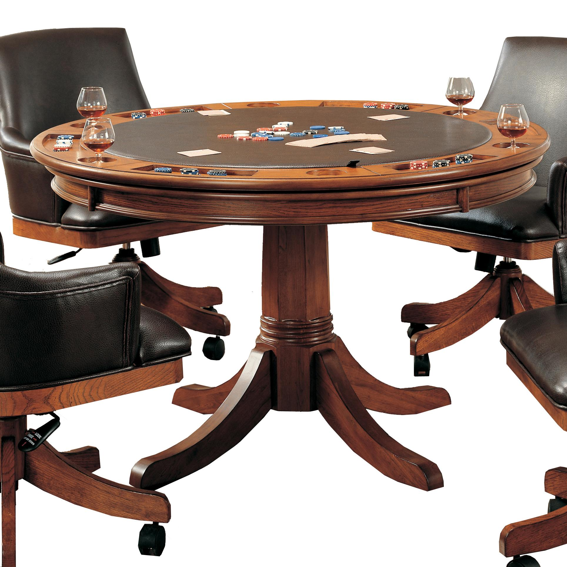Hillsdale Park View Round Flip Top Gaming Dining Table
