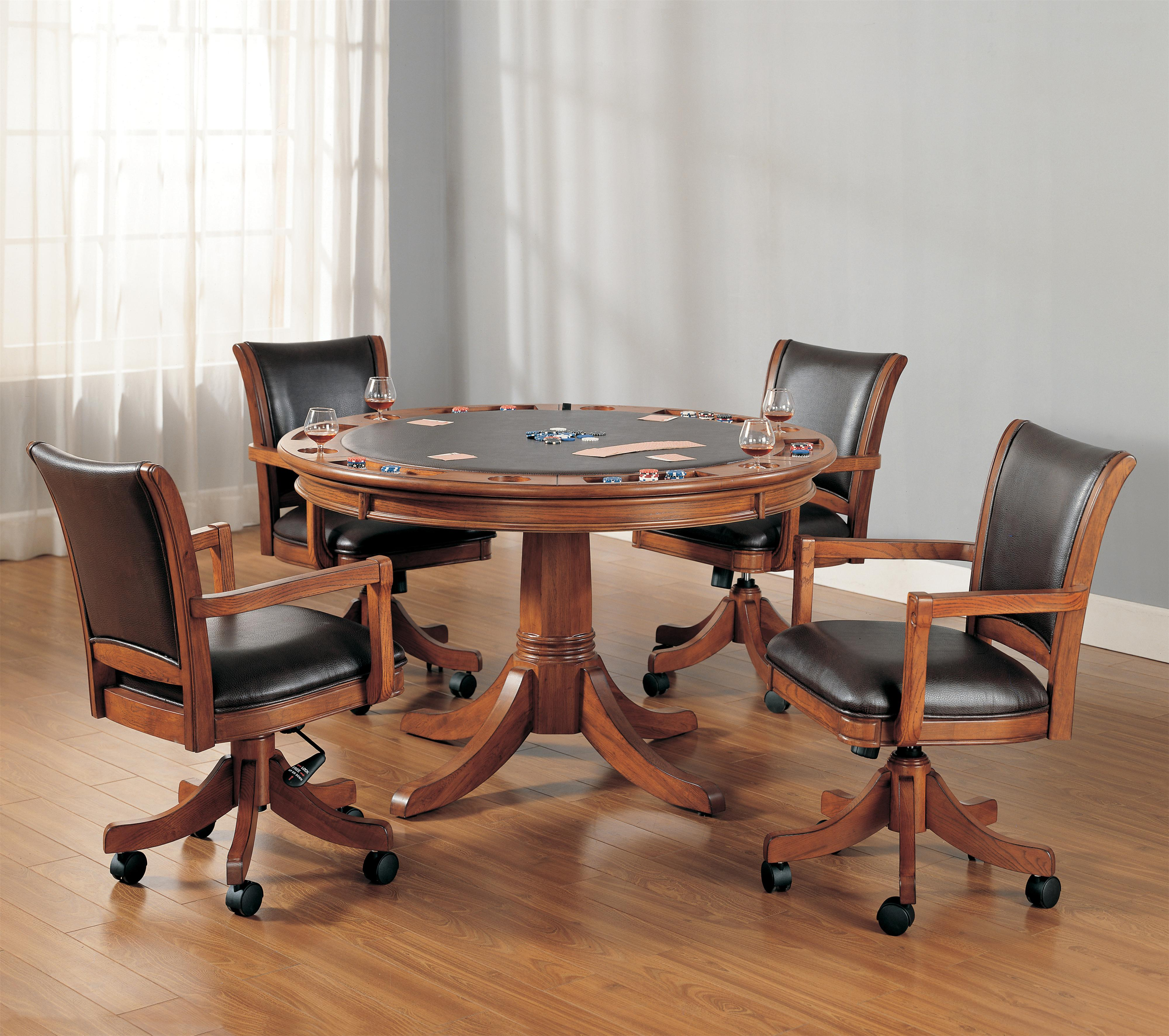 Kitchen Table Sets With Rolling Chairs