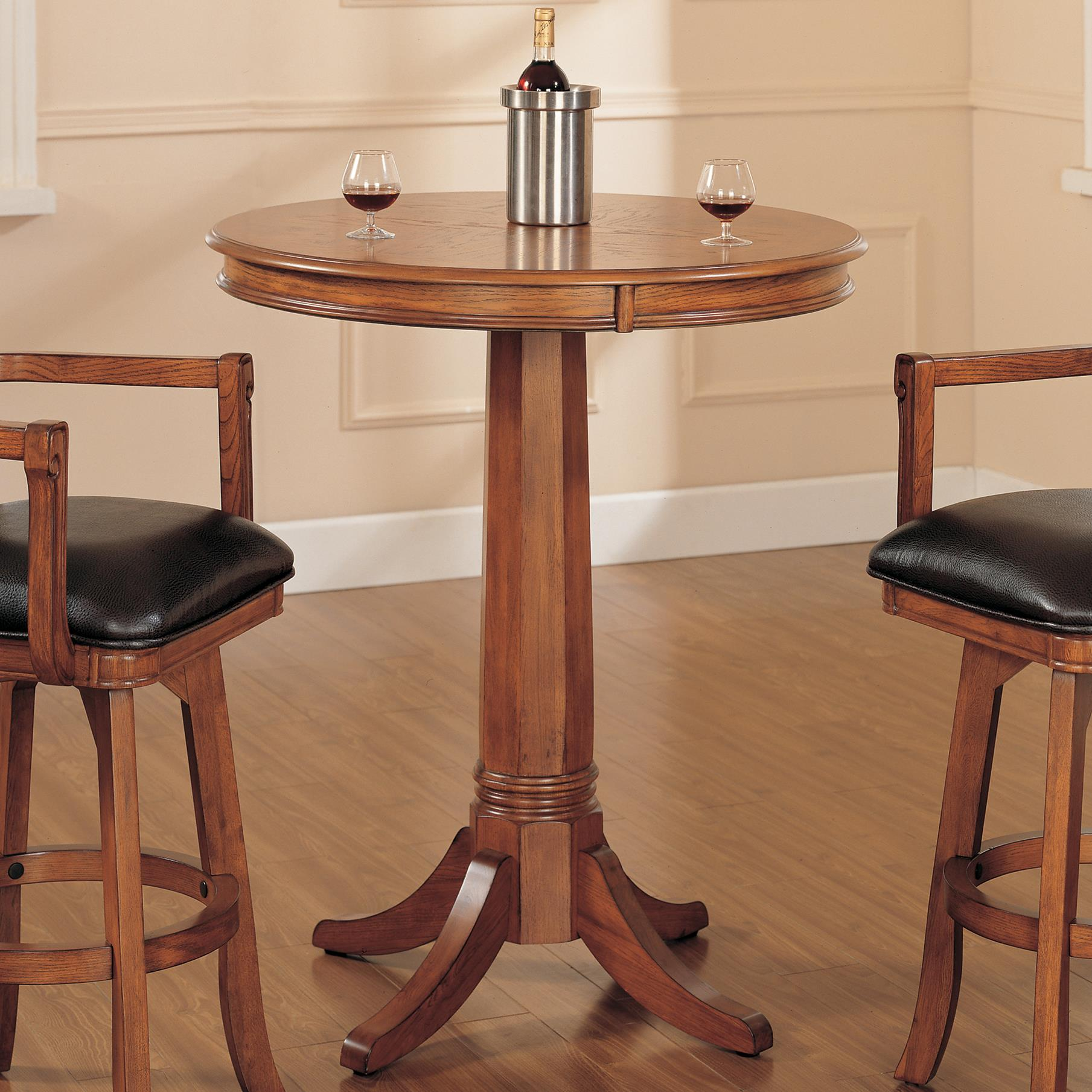 Hillsdale Park View Round Pub Table Wayside Furniture Pub Table