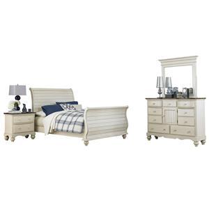 Hillsdale Pine Island1 Sleigh 4 Piece King Bedroom Group