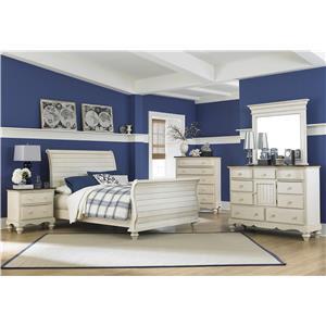 Hillsdale Pine Island1 5 Piece King Sleigh Bedroom Group