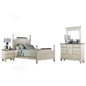 Hillsdale Pine Island1 4 Piece Queen Bedroom Set