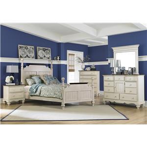 Hillsdale Pine Island1 5 Piece Queen Post Bedroom Group