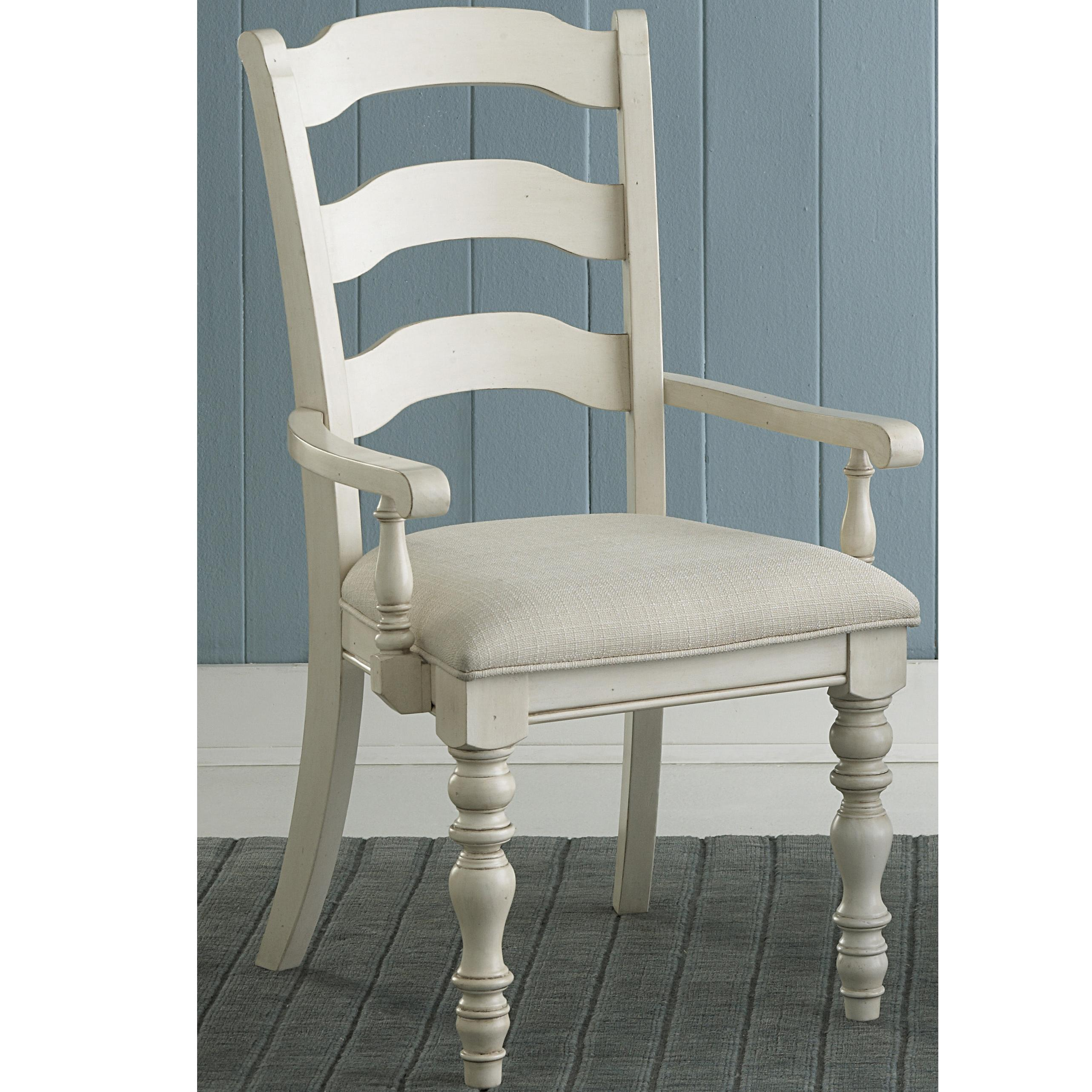 Hillsdale Pine Island Dining Ladder Back Arm Chairs - Item Number: 5265-804