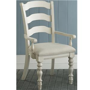 Morris Home Furnishings Nantucket Dining Ladder Back Arm Chairs