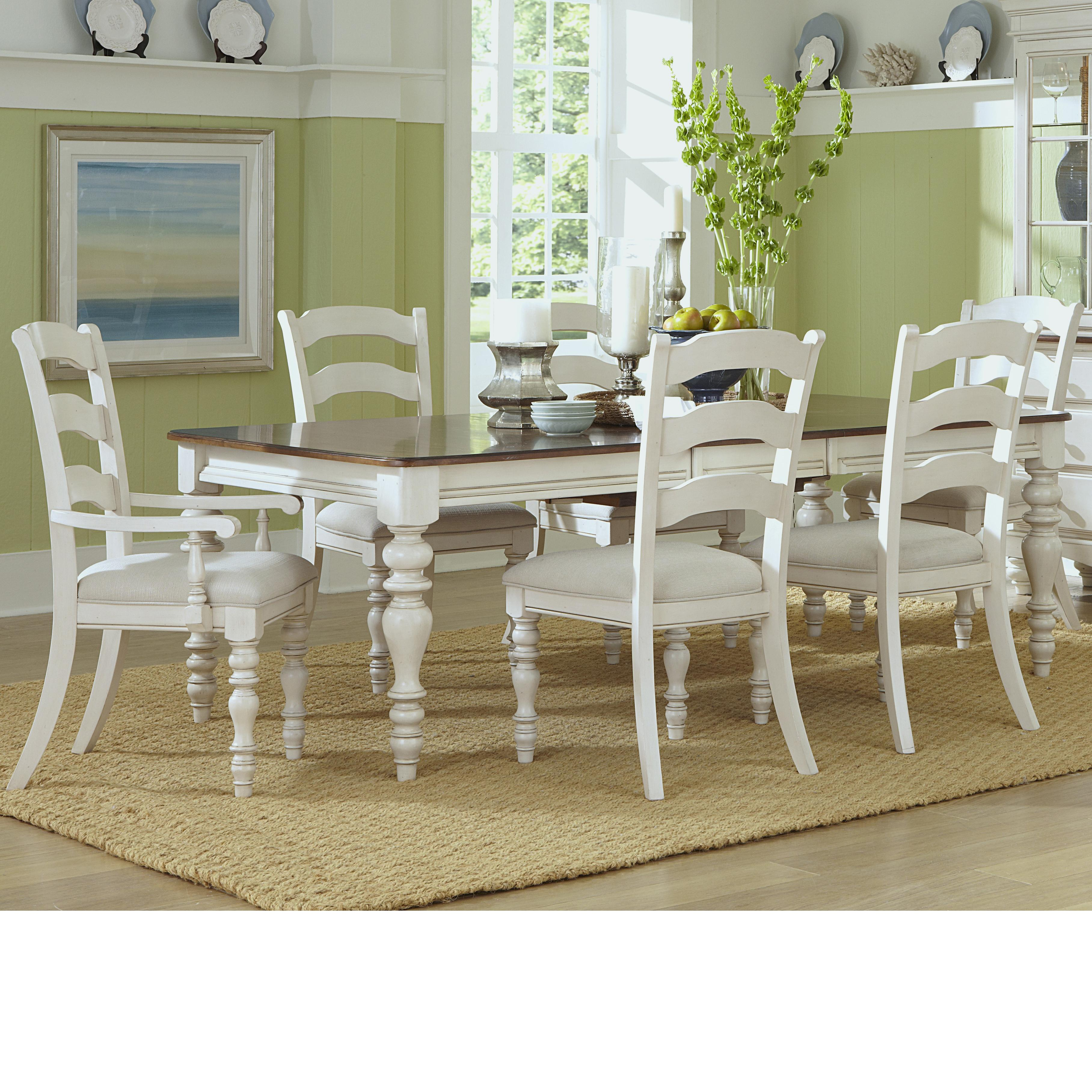 Hillsdale Pine Island Dining Table And Chair Set   Item Number: 5265 819+