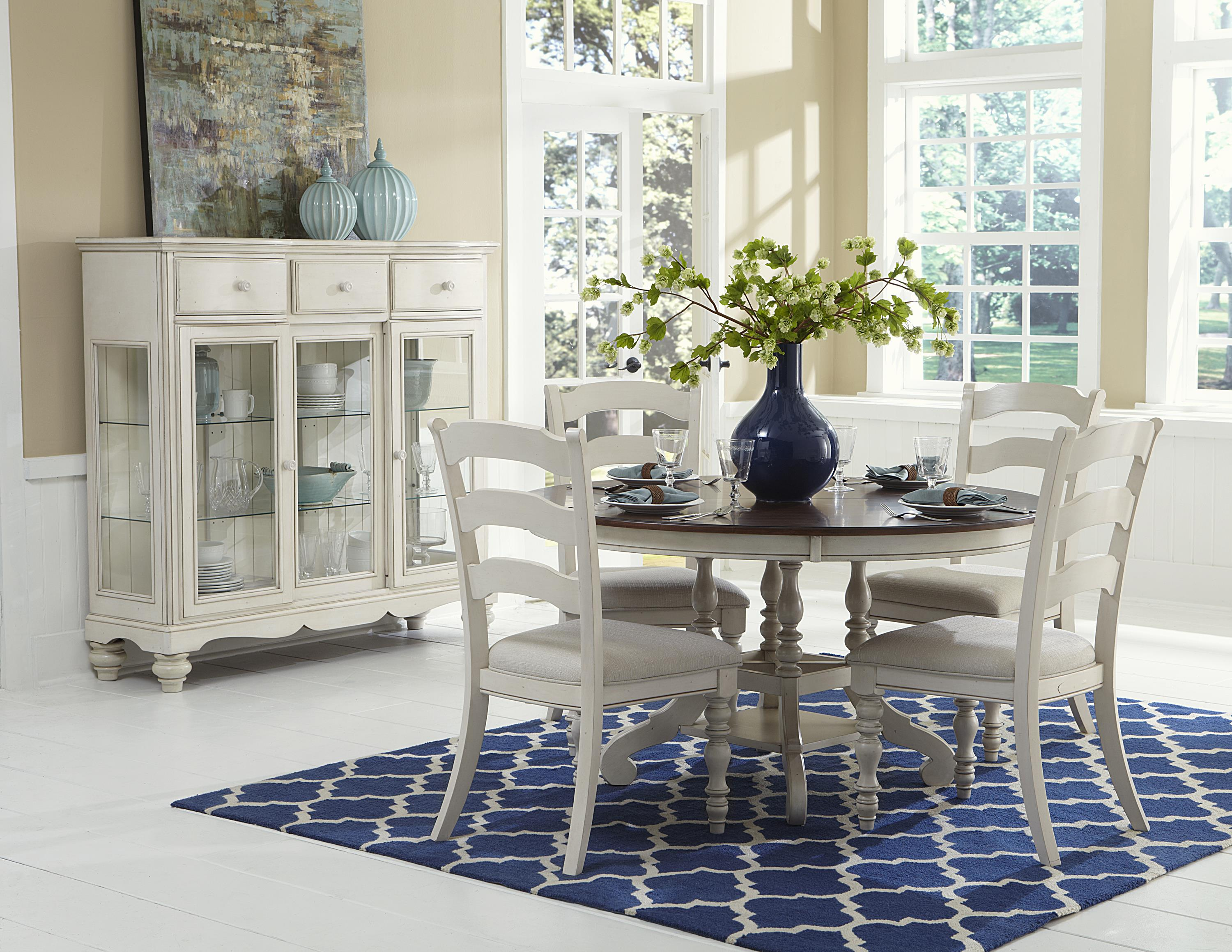 Hillsdale Pine Island 5 Piece round Dining Set - Item Number: 5265DTBCL