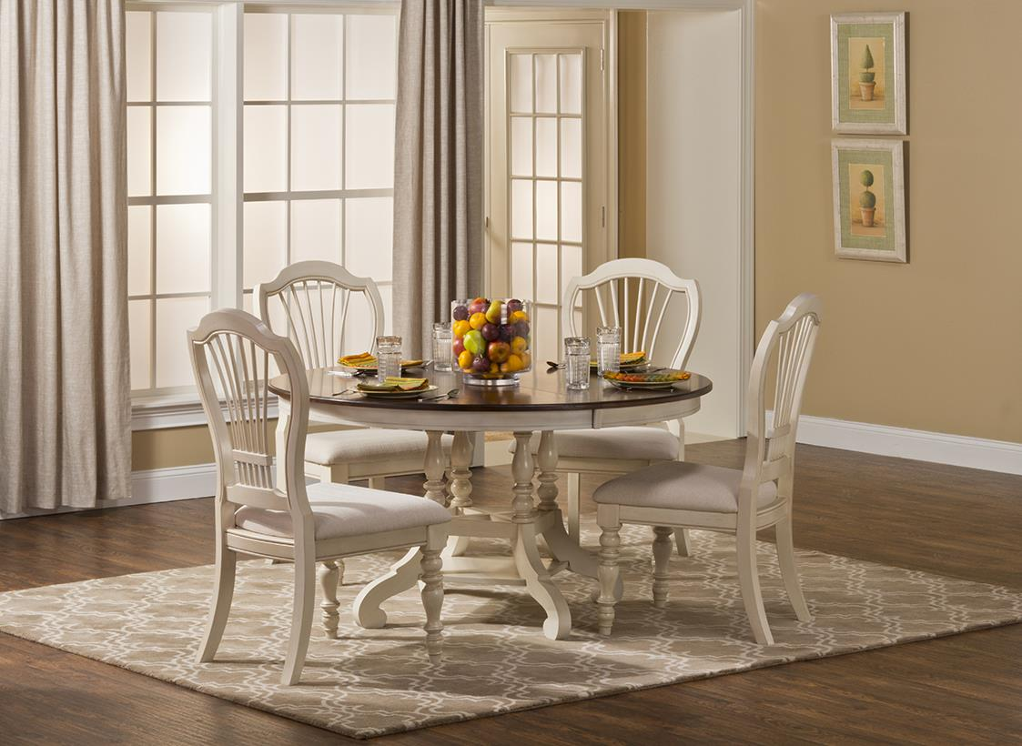 Hillsdale Pine Island Five Piece round Dining Table Set - Item Number: 5265DTBCW