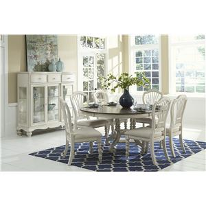 Morris Home Furnishings Nantucket 7 Piece Round Dining Set