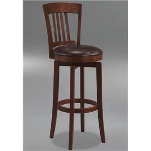 Morris Home Furnishings Plainview Canton Swivel Barstool