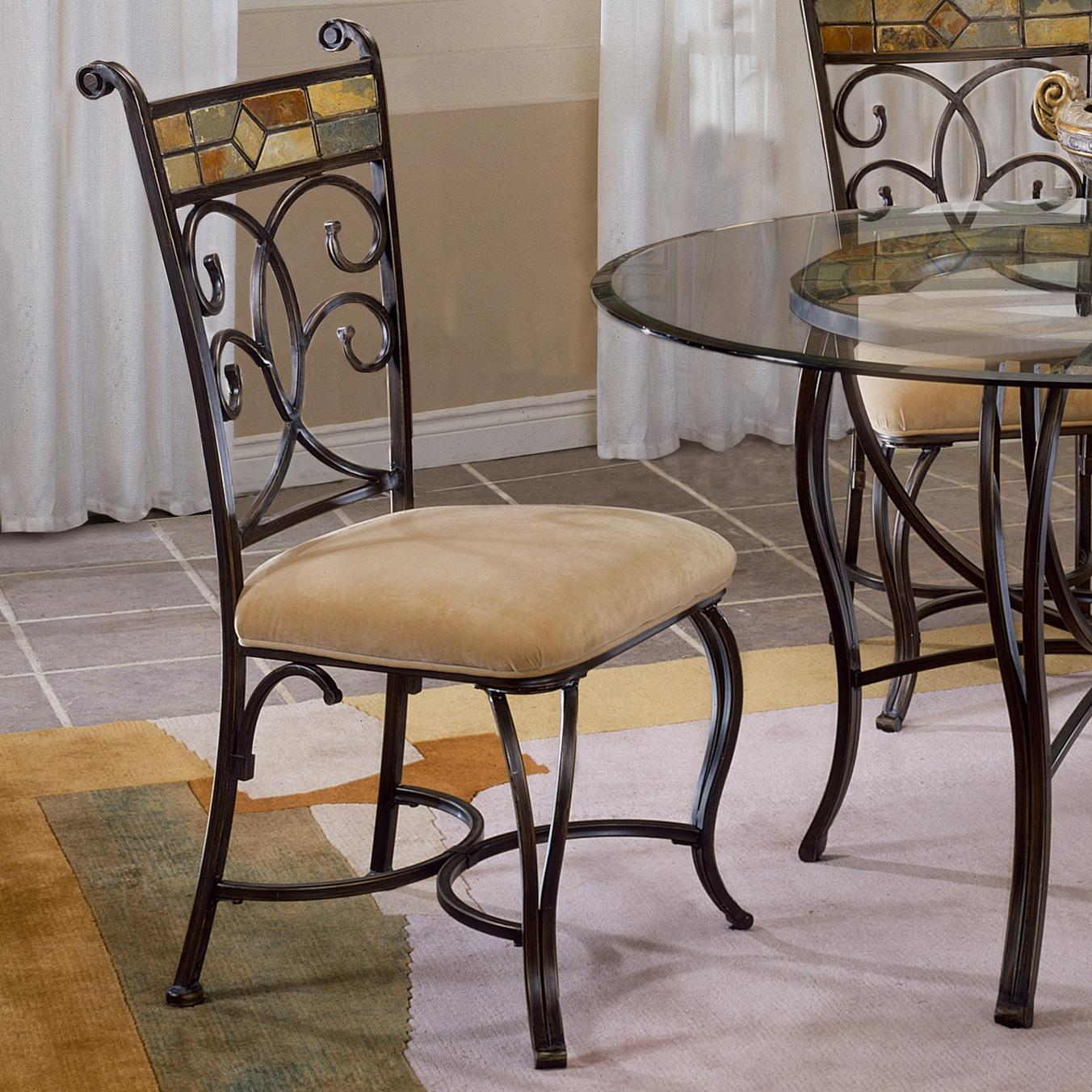 Hillsdale Pompei Slate Accented Dining Side Chair Conlin