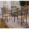 "Hillsdale Pompei Slate Accented Dining Side Chair - 4442-802 - Shown with 48"" Round Dining Table"