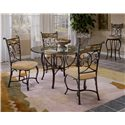 "Hillsdale Pompei Slate Accented Dining Side Chair - 4442-802 - Shown with 48"" Round Dining Table and Bar Height Swivel Stool"