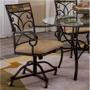 Morris Home Furnishings Pompei Dining Chair with Casters