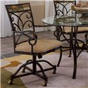Morris Home Furnishings Pompei Dining Chair with Casters - Item Number: 4442-806