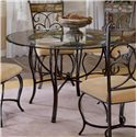 "Morris Home Furnishings Pompei 48"" Round Dining Table - Item Number: 4442DTB"