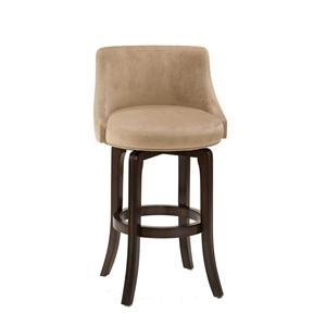 Morris Home Furnishings Napa Valley Stools Napa Valley Swivel Counter Stool - Khaki