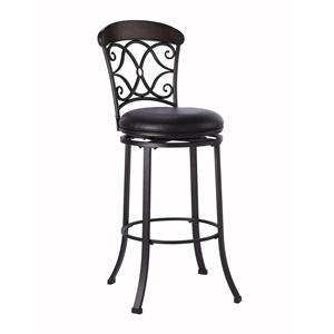 Hillsdale Napa Valley Stools Counter Stool with Brown Vinyl