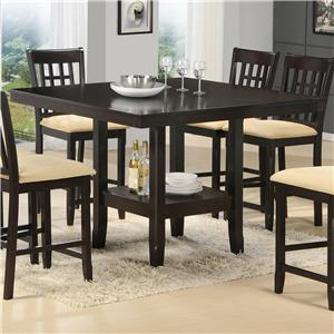 Morris Home Furnishings Tabacon Counter Height Gathering Table w/ Wine Rack