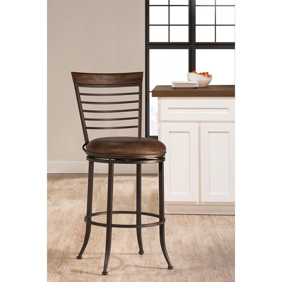 Hillsdale terrell industrial commercial grade swivel bar - Commercial grade living room furniture ...