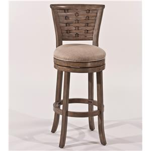 "Morris Home Furnishings Thedford Thedford 30"" Swivel Barstool"