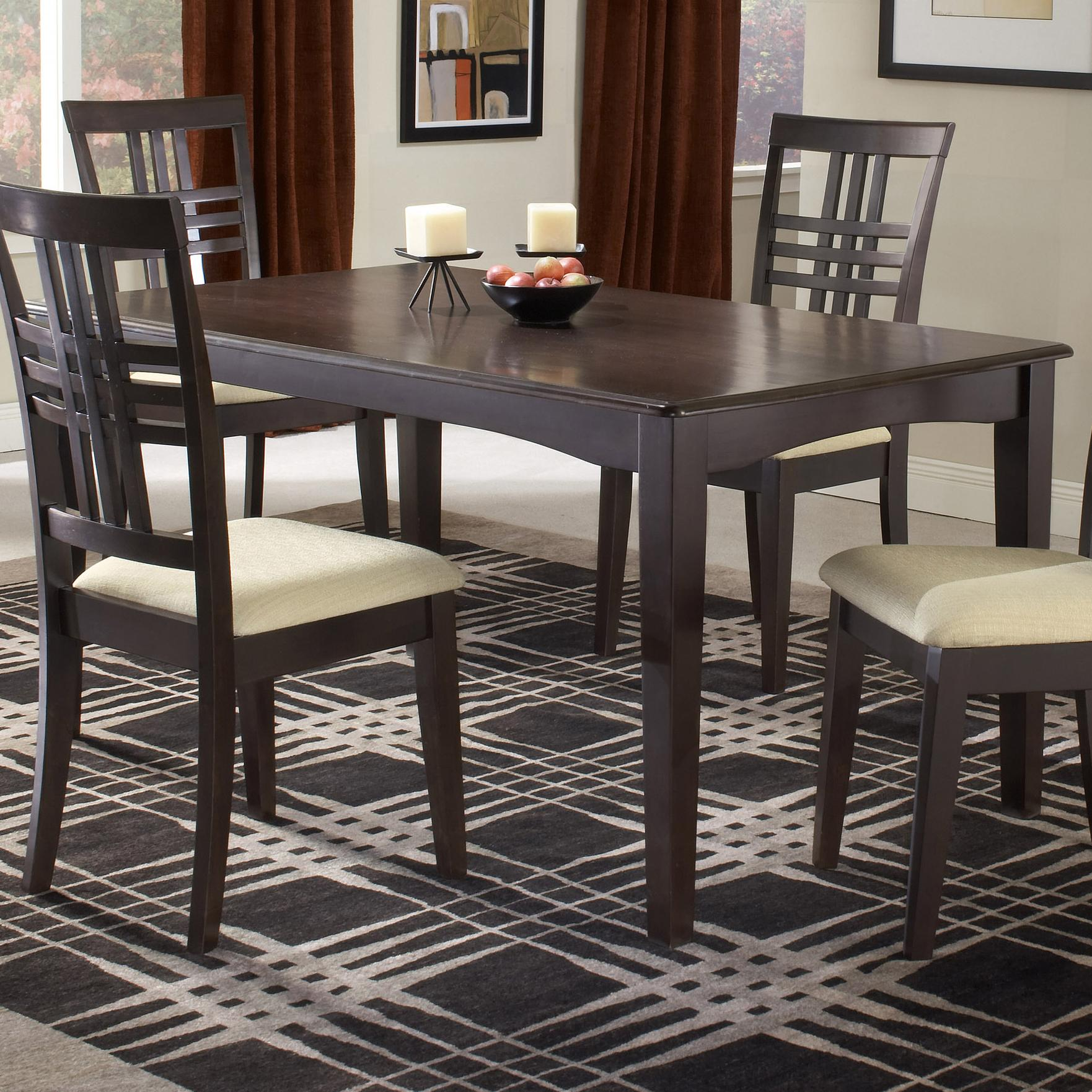 Hillsdale tiburon 4917 814 36 x 60 fix top dining table for Dining room table 60 x 36