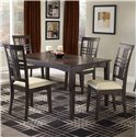 Hillsdale Tiburon 36 x 60 Fix Top Dining Table - Shown with Side Chairs