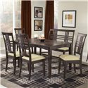 Hillsdale Tiburon 36 x 60 Fix Top Dining Table - Shown with Side Chairs and Bench