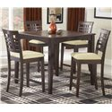 Hillsdale Tiburon 40 x 40 Counter Fix Top Dining Table - Shown with Non-Swivel Counter Stools