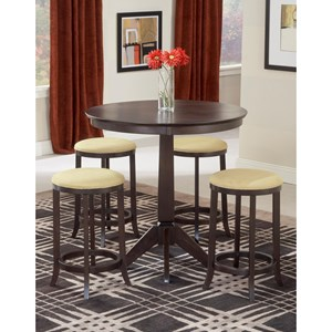 Hillsdale Tiburon Tiburon Pub Table with Backless Stools