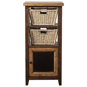 Hillsdale Tuscan Retreat Basket Stand with Two Baskets