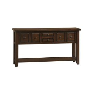Hillsdale Tuscan Retreat Hall Table with 6 Drawers and Shelf