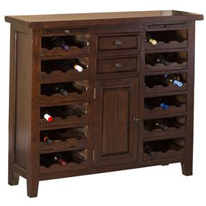 Morris Home Furnishings Tuscan Retreat Wine Storage Cabinet