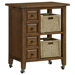 Morris Home Furnishings Tuscan Retreat Two Basket Kitchen Cart