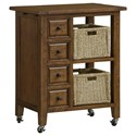 Hillsdale Tuscan Retreat Two Basket Kitchen Cart - Item Number: 5225-883W