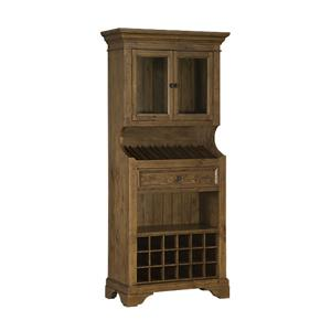 Hillsdale Tuscan Retreat Tall Slanted Wine Rack with 2 Glass Doors