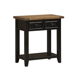 Morris Home Furnishings Tuscan Retreat Hall Table with Shelf and 2 Drawers