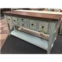 Hillsdale Tuscan Retreat 6 Drawer Console - Item Number: 5362-888W