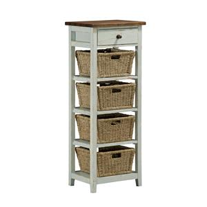 Hillsdale Tuscan Retreat Side Stand with 1 Drawer and 4 Baskets