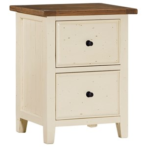 Morris Home Tuscan Retreat White File Cabinet
